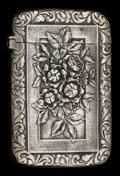 Silver Smalls:Match Safes, A GORHAM SILVER MATCH SAFE . Gorham Manufacturing Co., Providence,Rhode Island, circa 1888. Marks: (lion-anchor-G) STERLI...
