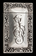 Silver Smalls:Match Safes, A GORHAM SILVER MATCH SAFE. Gorham Manufacturing Co., Providence,Rhode Island, circa 1907. Marks: (lion-anchor-G) STERLIN...