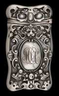 Silver Smalls:Match Safes, A GORHAM SILVER MATCH SAFE . Gorham Manufacturing Co., Providence,Rhode Island, circa 1899. Marks: (lion-anchor-G), STERL...