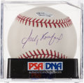 Baseball Collectibles:Balls, Sandy Koufax Single Signed Baseball, PSA Mint 9. ...