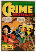 Golden Age (1938-1955):Horror, Crime Mysteries #13 (Ribage Publishing, 1954) Condition: FN+....