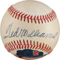 Baseball Collectibles:Balls, 1970's Ted Williams Single Signed Portrait Baseball. ...