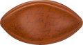 Football Collectibles:Balls, 1993 Green Bay Packers Team Stamped Football. ...