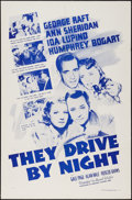 "Movie Posters:Drama, They Drive by Night (Dominant, R-1956). One Sheet (27"" X 41""). Drama.. ..."