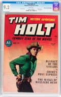 Golden Age (1938-1955):Western, Tim Holt #2 Mile High pedigree (Magazine Enterprises, 1948) CGC NM-9.2 White pages....