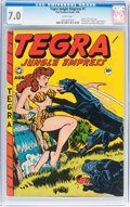 Golden Age (1938-1955):Adventure, Tegra Jungle Empress #1 (Fox, 1948) CGC FN/VF 7.0 White pages....