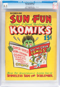 Golden Age (1938-1955):Miscellaneous, Sun Fun Komiks #1 (Sun Publications, 1939) CGC VF+ 8.5 Cream to off-white pages....