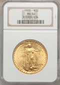 Saint-Gaudens Double Eagles: , 1928 $20 MS64 NGC. NGC Census: (14767/6548). PCGS Population (14180/11229). Mintage: 8,816,000. Numismedia Wsl. Price for p...