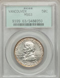 Commemorative Silver: , 1925 50C Vancouver MS63 PCGS. PCGS Population (701/2003). NGCCensus: (277/1691). Mintage: 14,994. Numismedia Wsl. Price fo...
