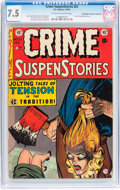 Golden Age (1938-1955):Crime, Crime SuspenStories #22 Don/Maggie Thompson Collection pedigree (EC, 1954) CGC VF- 7.5 Off-white to white pages....