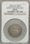 Expositions and Fairs, 1893 World's Columbian Exposition, 1890 Liberty Nickel, MS62 NGC. Eglit-372....