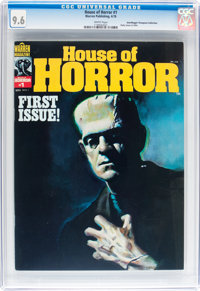 House of Horror #1 Don/Maggie Thompson Collection pedigree (Warren, 1978) CGC NM+ 9.6 White pages