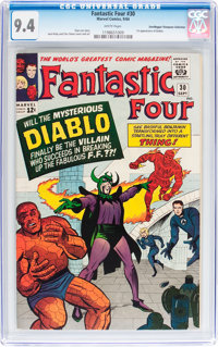 Fantastic Four #30 Don/Maggie Thompson Collection pedigree (Marvel, 1964) CGC NM 9.4 White pages