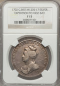 Betts Medals, 1702 Expedition to Vigo Bay Fine 15 NGC. Betts-97....
