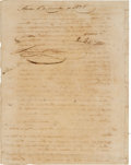 Autographs:Statesmen, [Austin's Colony]. Samuel May Williams Document Signed....
