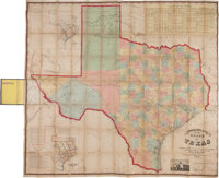 [Map]. Charles W. Pressler. Pressler's Map of the State of Texas