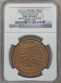 Expositions and Fairs, 1915 Panama-Pacific Exposition Souvenir Penny -- Improperly Cleaned -- NGC Details. Unc. Bronze, 38 mm....