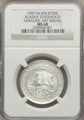 20th Century Tokens and Medals, 1959 Alaska Statehood Medal, Silver, Heraldic Art Co. MS68 NGC.Gould-Bressett 106....