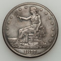 1877-S Trade Dollar, Box Dollar VF30 Cleaned Uncertified