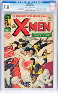 Silver Age (1956-1969):Superhero, X-Men #1 (Marvel, 1963) CGC FN/VF 7.0 Cream to off-white pages....