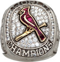 Baseball Collectibles:Others, 2011 St. Louis Cardinals World Championship Ring Presented to PedroDoble....