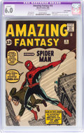 Silver Age (1956-1969):Superhero, Amazing Fantasy #15 Trimmed (Marvel, 1962) CGC Apparent FN 6.0Off-white pages....
