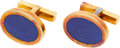 Estate Jewelry:Cufflinks, Lapis Lazuli, Gold Cuff Links, Tiffany & Co.. ...