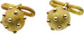 Jewelry, A PAIR OF GOLD CUFF LINKS, SCHLUMBERGER FOR TIFFANY & CO.. ...