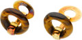 Estate Jewelry:Cufflinks, A PAIR OF TIGER'S-EYE, GOLD CUFF LINKS, TIFFANY & CO.. ...