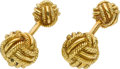 Estate Jewelry:Cufflinks, A PAIR OF GOLD CUFF LINKS, SCHLUMBERGER FOR TIFFANY & CO.. ...