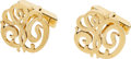 Estate Jewelry:Cufflinks, A PAIR OF GOLD CUFF LINKS. ...