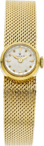 Clocks & Mechanical, A ROLEX LADY'S GOLD WRIST WATCH. Property of a Dallas Lady...
