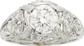 Estate Jewelry:Rings, A DIAMOND, PLATINUM RING. ...