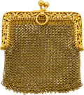 Estate Jewelry:Purses, A GOLD MESH COIN PURSE, FRENCH. ...