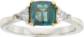 Estate Jewelry:Rings, AN ALEXANDRITE, DIAMOND, GOLD RING. ...