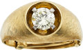 Estate Jewelry:Rings, A GENTLEMAN'S DIAMOND, GOLD RING. ...