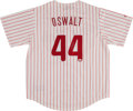 Baseball Collectibles:Uniforms, Roy Oswalt Signed Philadelphia Phillies Jersey. ...