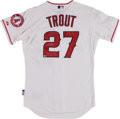 Baseball Collectibles:Uniforms, 2012 Mike Trout Signed Anaheim Angels Stat Jersey - MLB Hologram. ...