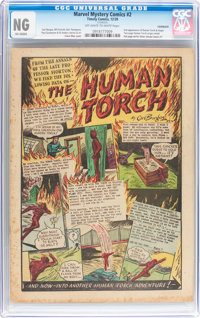 Marvel Mystery Comics #2 (Timely, 1939) CGC NG (No Grade) Off-white to white pages