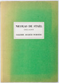 Books:Art & Architecture, Nicolas de Staël. Collages. Paris: Dubourg, 1958. Exhibition catalog featuring a preface by R. V. Gindertael. Il...