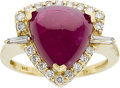 Estate Jewelry:Rings, A RUBY, DIAMOND, GOLD RING. ...