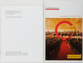 Books:Music & Sheet Music, Pair of SIGNED Classical Music Programs. Vienna Philharmonic, 1996 [and:] Carnegie Hall, 2010. Each signed by respective con... (Total: 2 Items)