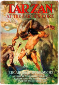Books:Science Fiction & Fantasy, Edgar Rice Burroughs. Tarzan at the Earth's Core. New York: Grosset & Dunlap, 1930. Early reprint. Publisher's bindi...