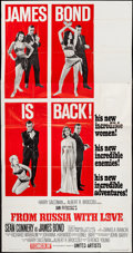 "Movie Posters:James Bond, From Russia with Love (United Artists, 1964). Three Sheet (41"" X79"") Style B. James Bond.. ..."