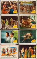 "Movie Posters:Adventure, Bird of Paradise (20th Century Fox, 1951). Lobby Card Set of 8 (11""X 14""). Adventure.. ... (Total: 8 Items)"