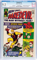Silver Age (1956-1969):Superhero, Daredevil #1 (Marvel, 1964) CGC NM- 9.2 Off-white to whitepages....