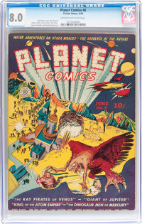 Planet Comics #6 (Fiction House, 1940) CGC VF 8.0 Cream to off-white pages