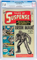 Silver Age (1956-1969):Superhero, Tales of Suspense #39 (Marvel, 1963) CGC FN/VF 7.0 Off-white towhite pages....