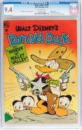 Golden Age (1938-1955):Cartoon Character, Four Color #199 Donald Duck (Dell, 1948) CGC NM 9.4 Off-white pages....