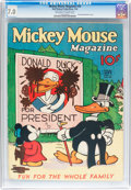 Platinum Age (1897-1937):Miscellaneous, Mickey Mouse Magazine #10 (K. K. Publications/ Western PublishingCo., 1936) CGC FN/VF 7.0 Off-white to white pages....